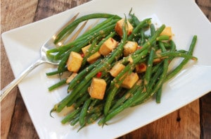 Red Curry Green Beans with Tofu