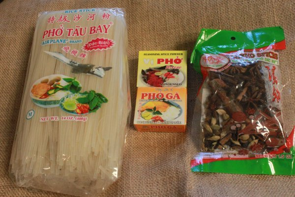 Vietnamese pho packaged ingredients