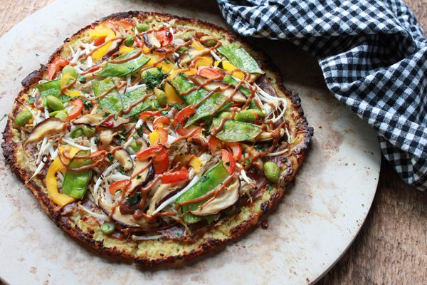 Thai Cauliflower Pizza