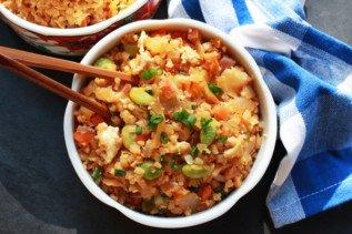 Cauliflower Kimchi Fried Rice
