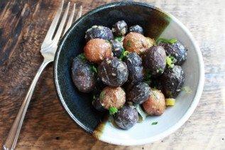Roasted Baby Potatoes with Leeks