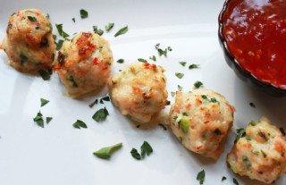 Spicy Baked Shrimp Balls
