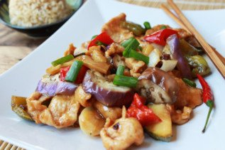 Spicy Szechuan Chicken & Eggplant