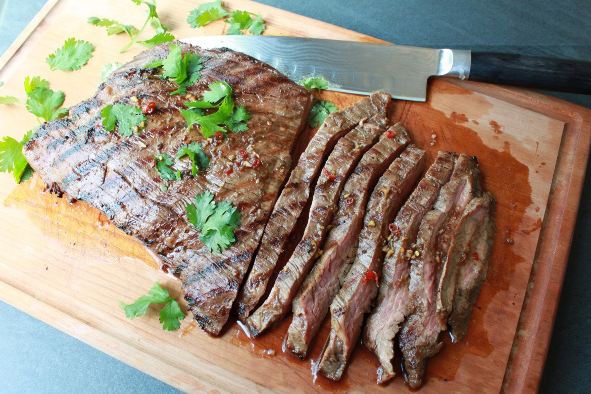 Grilled Asian Flank Steak - Asian Caucasian Food Blog