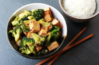 Stir-Fry Broccoli & Baked Tofu
