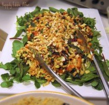 Asian Chicken & Vegetable Salad with Spicy Cashew Butter Dressing