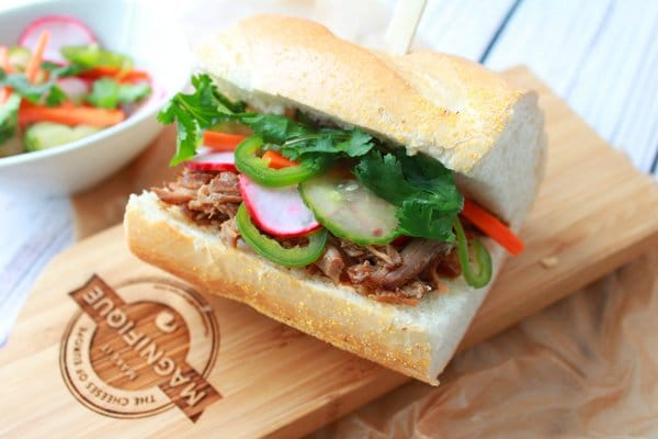 slow cooker, pulled pork, Báhn Mì, Vietnamese sandwich, Chinese Five Spice, Asian sandwich, Asian lunch, Asian recipe