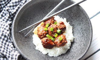 pressure cooker Asian meatballs