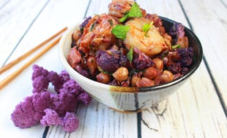 shrimp sambal with cauliflower