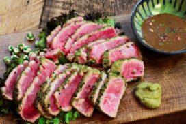 sushi grade seared tuna