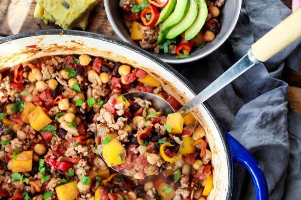 Asian inspired pork chili