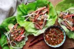 grilled flank steak cups with nuoc cham
