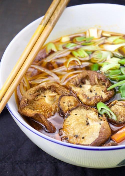 Asian bone broth soup