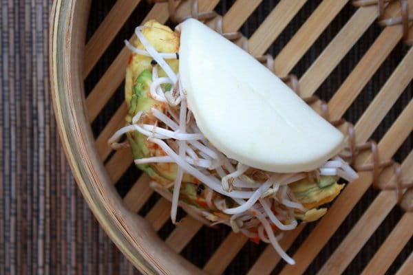 bao buns with eggs