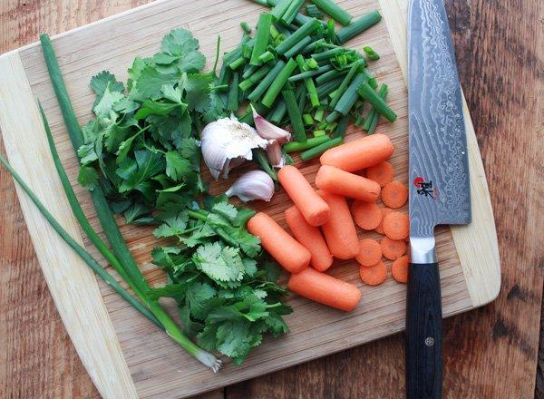 mixed raw veggies