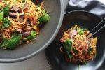 Korean sweet potato noodles beef