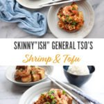 General Tso's shrimp and tofu