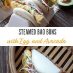 Steamed Bao Buns Breakfast Sandwich
