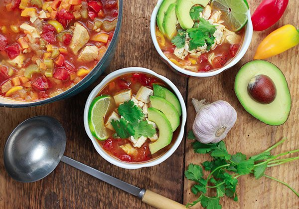 Asian-Inspired Chicken Tortilla Soup