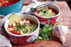 Asian-Inspired Chicken Tortilla Soup