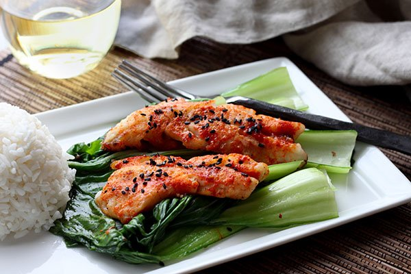 Seared Gochujang Redfish