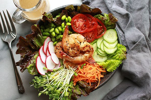 miso shrimp salad
