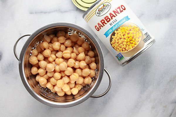 chickpeas garbanzo beans in a strainer