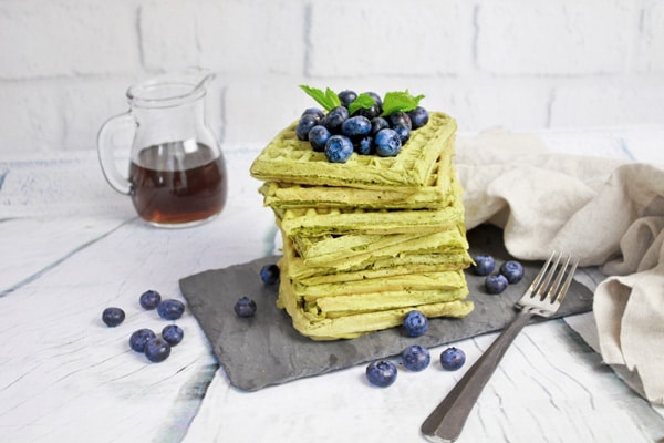 matcha green tea waffles