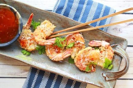 gluten-free baked coconut shrimp