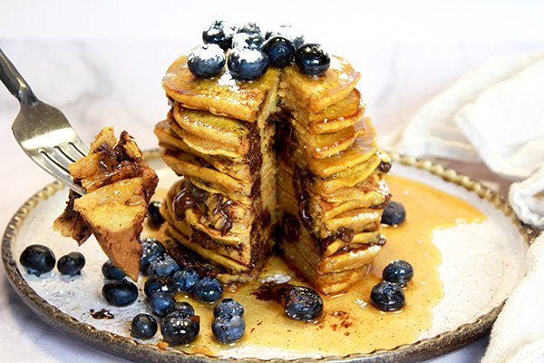 pumpkin five spice pancakes