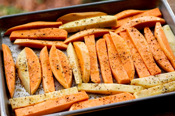 sweet potatoes wedges