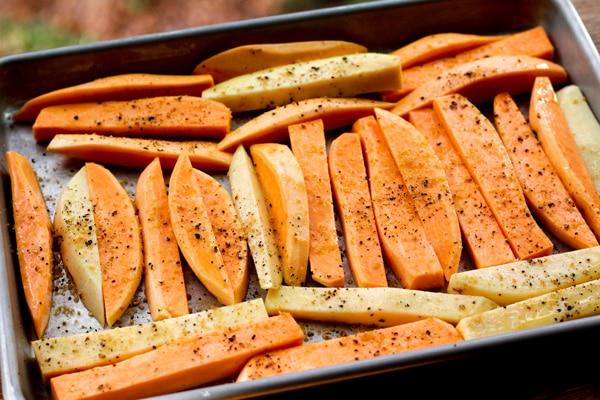 sweet potatoes wedges