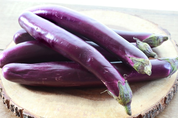 Chinese eggplant on board