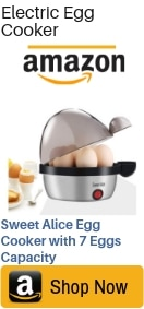 Sweet Alice Electric Egg Cooker with 7 Eggs Capacity