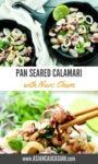 succulent pan seared calamari tossed in a spicy Vietnamese nuoc cham sauce