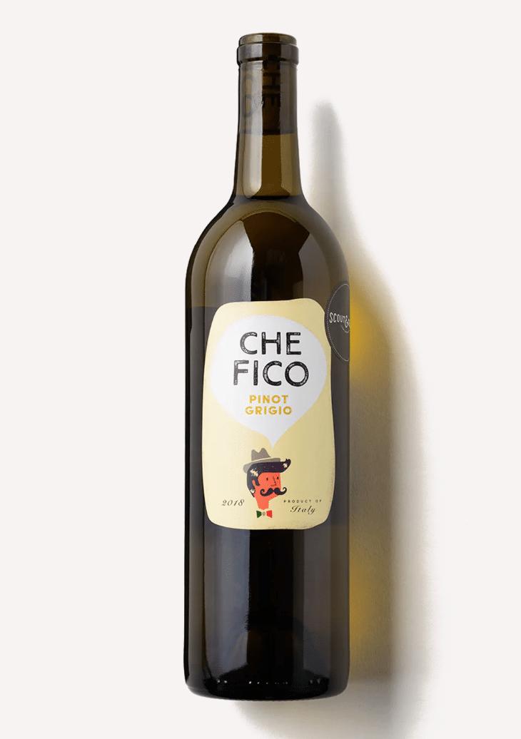 a bottle of Scout & Cellar's 2018 Che Fico Pino Grigio wine