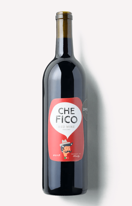 a bottle of Scout & Cellar 2018 Che Fico Red wine