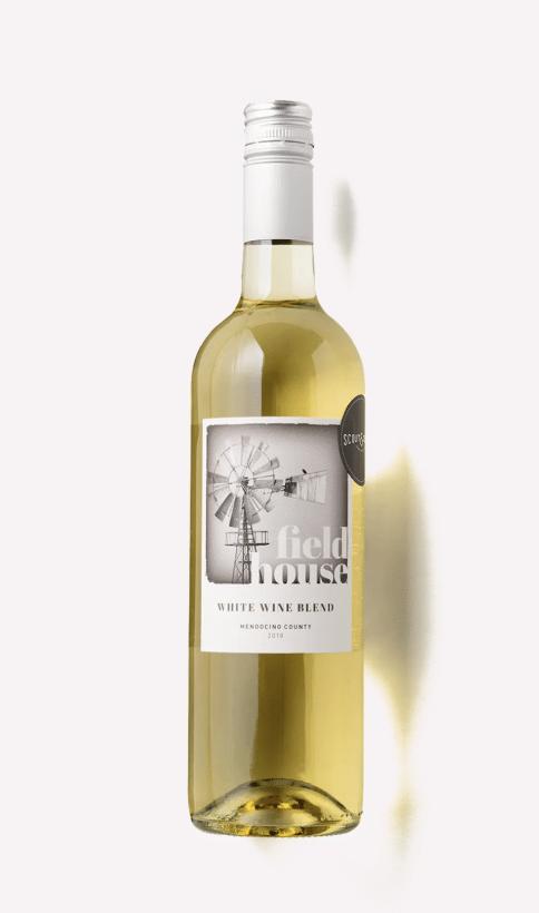 a bottle of Scout & Cellar 2018 Fieldhouse White Blend