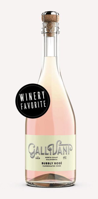Bottle of 2019 Gallivant Bubbly Rosé from Scout & Cellar