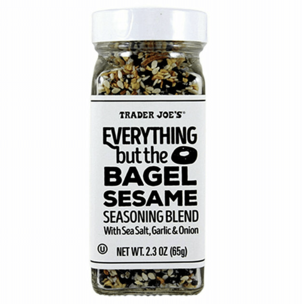 A jar of Trader Joe's Everything But the Bagel seasoning