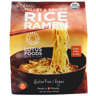 gluten-free ramen rice noodles in a package